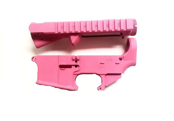 AR15 receiver set/Pink